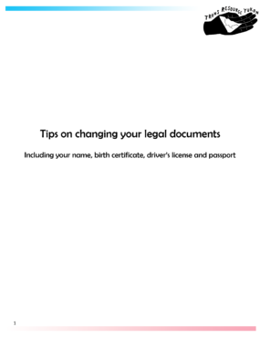 Tips on changing your legal documents report cover