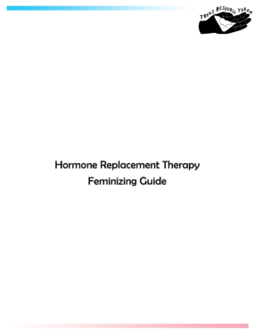 Hormone Replacement Therapy Feminizing Guide cover