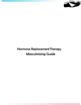 Hormone Replacement Therapy Masculinizing Guide cover